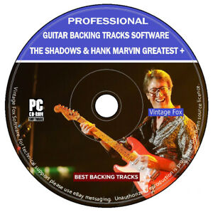 The-Shadows-amp-Hank-Marvin-Guitar-Backing-Tracks-155-Songs-MP3-DVD-Software