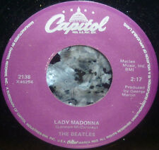 "* * BEATLES' 1968 ""LADY MADONNA/THE INNER LIGHT"": CLEAN M- 1978 PURPLE LABEL 45!"