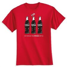 COCA COLA COKE 100 YEAR CONTOUR BOTTLE ANNIVERSARY T SHIRT XL  NEW!!