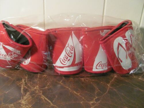 Coke Coca Cola beverage Pop Can holders Lot of 5