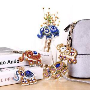 5pcs-DIY-Elephant-Full-Drill-Special-Shaped-Diamond-Painting-Keychain-Gifts-KIts