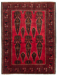 Hand-knotted-Carpet-4-039-2-034-x-5-039-7-034-Traditional-Vintage-Wool-Rug-DISCOUNTED
