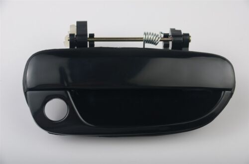 fits Honda Outside Exterior Door Handle Front Right Passenger Black Smooth