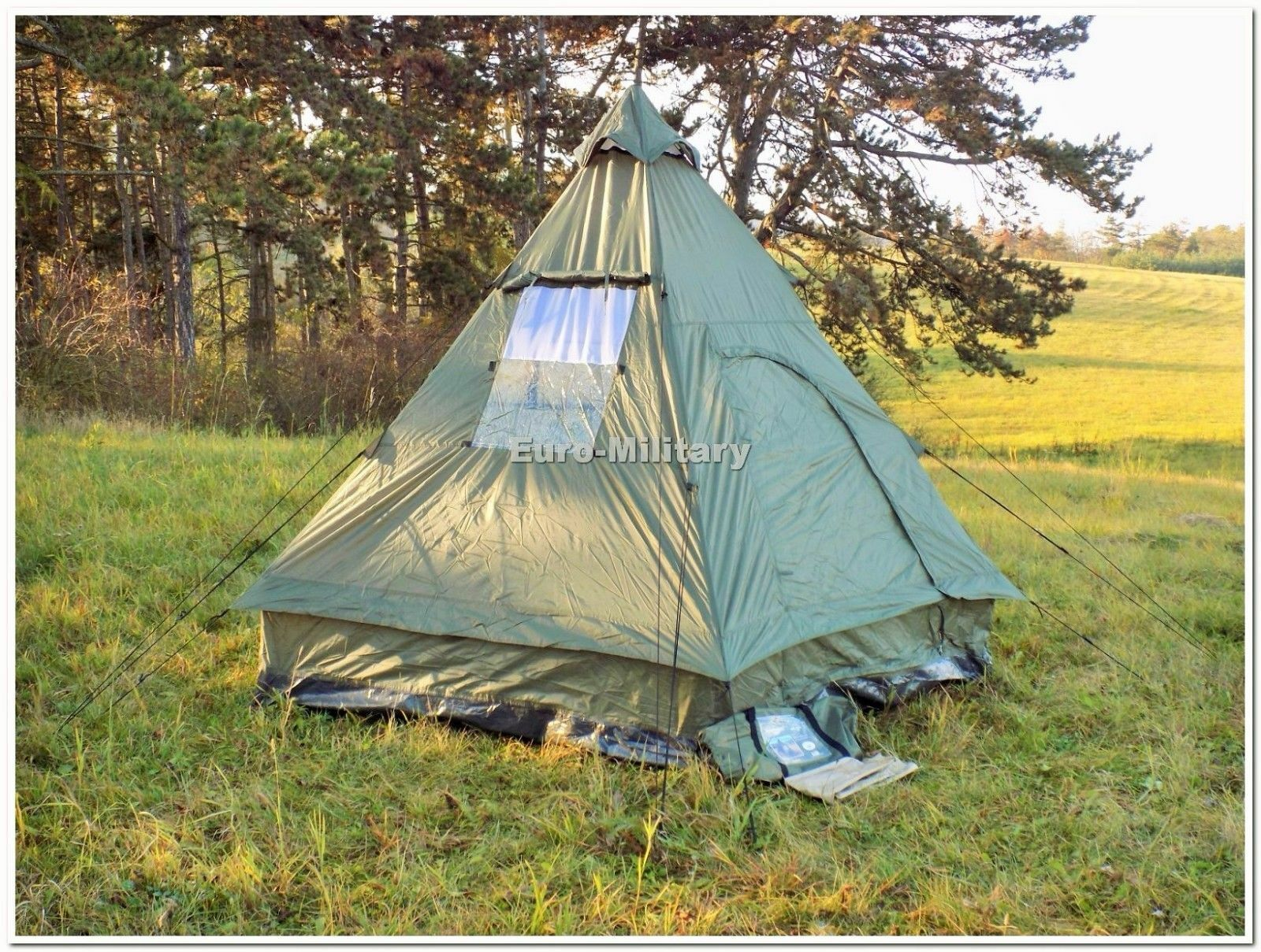 Military&Outdoor Four  Man Pyramid Tipi Tent Camping Hunting Waterproof Shelter  online