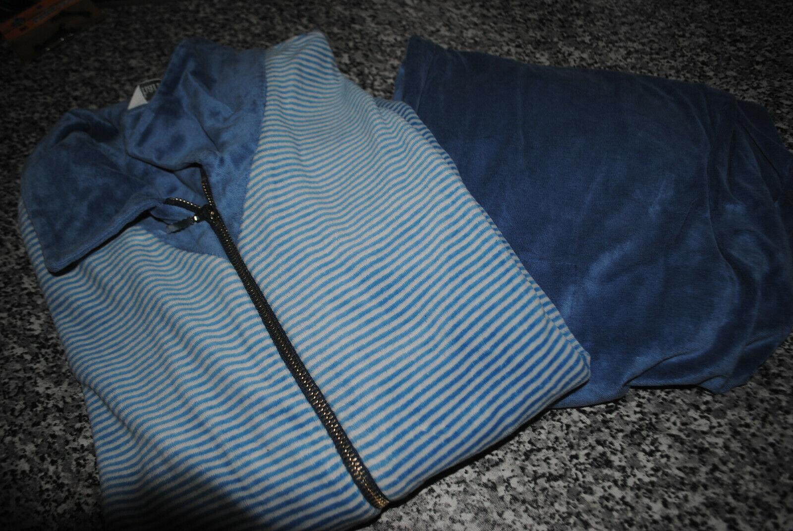 Charmor Jogginganzug Hausanzug Schlafanzug Hose Und Jacke blau Gr. 50