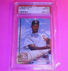 1994-Bowman-Derrek-Lee-RC-232-Padres-Cuba-PSA-10-GEM-MINT-Rookie-Rare