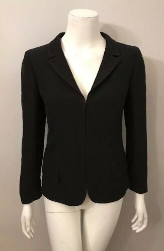 Vintage Valentino Boutique Black Red Stitched Wool
