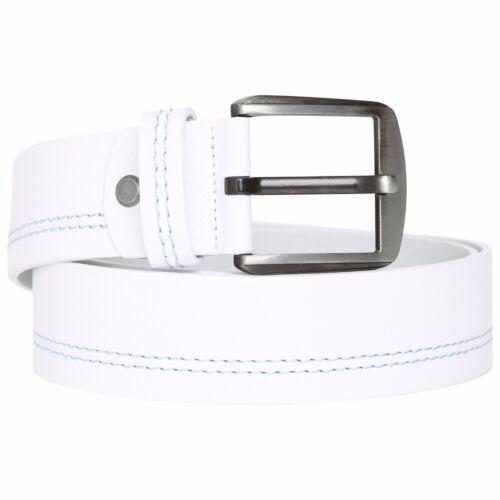 Calidad de pespunte en blanco azul para hombre de diseñador 100/% cuero genuino causal RRP £ 25