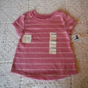 Girls-Lavender-stripe-Tee-Shirt-size-12-18-month-Old-Navy-Short-Sleeve-new-tags