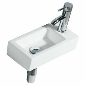 Small Bathroom Sink Rectangle Wall
