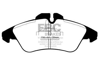 2019 Moda Ebc Ultimax Pastiglie Dei Freni Anteriori Per Mercedes Sprinter 313d Lwb 2.1 Td (2000 > 06)-