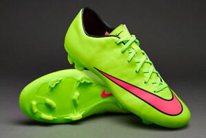 more photos 471e3 afc12 Details about NIKE MERCURIAL VICTORY V FG FIRM GROUND SOCCER CR7 SHOE  FOOTBALL Electric Green