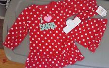 NEW CARTERS I Love Santa BABY GIRLS NIGHTGOWN + MATCHING DOLL GOWN Christmas 12M