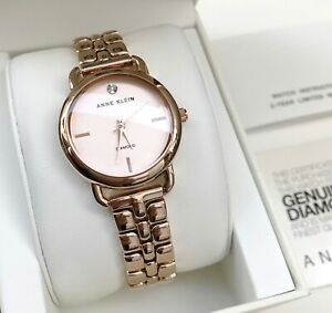 Anne Klein Watch * 2794RGRG Diamond Rose Gold Tone Steel for Women COD PayPal