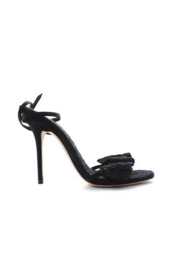 Dolce & Gabbana Lace Bow Sandals / Black / RRP: £650.00