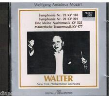 MOZART: SYMPHONIES (SINFONIE) No.25, 29, Eine Kleine Nachtmusik /  Walter - CD