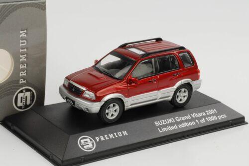 Suzuki Grand Vitara 2001 rojo DIECAST 1:43 triple 9 Premium