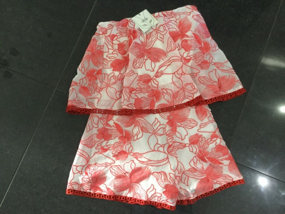 Impartial Neuf Avec étiquettes Foxiedox Nouveau & Gen. Femme X Small Uk 6/8 Rouge & Rose Dentelle Sans Manches Ange Apparence Attractive