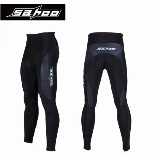 SAHOO Bike Pant Winter Men Bicycle Trousers Gel Padded Cycling Windproof Thermal