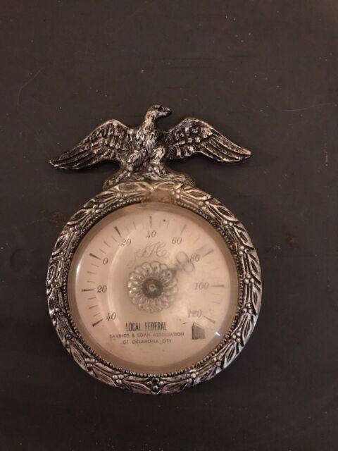 Vintage Barometer Plastic Eagle Local Federal Savings And Loan Oklahoma City