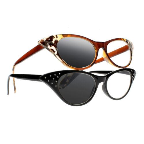 1.0~+3.0 Multifocal Progressive Photochromic Women Cat Eye Reading Glass