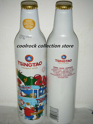 2020 Hongkong Tsingtao beer NEW YEAR of Mouse aluminium bottle 473ml empty