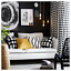 1X IKEA CUSHION COVER Cotton Washable Black White Bedroom 50x50 cm Polkadots