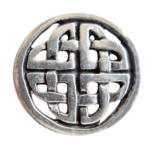 Celtic Sculptured Knot Pewter Pin Badge - Hand Made in Cornwall