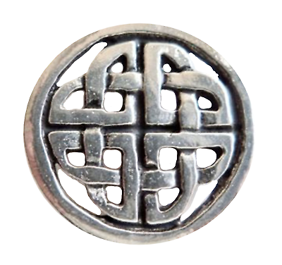 Sonstige Precise Keltisch Geformt Knoten Zinn Anstecker Abzeichen Handgefertigt In Cornwall