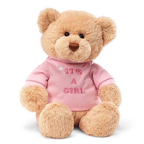 "Gund Teddy Bear with /""It/'s A Girl/"" T-Shirt"