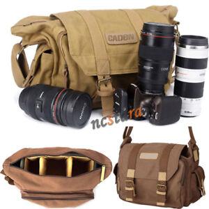DSLR-SLR-Camera-Bag-Lens-Padded-Bag-Travel-Canvas-Shoulder-Bag-Daypack-Pouch-New