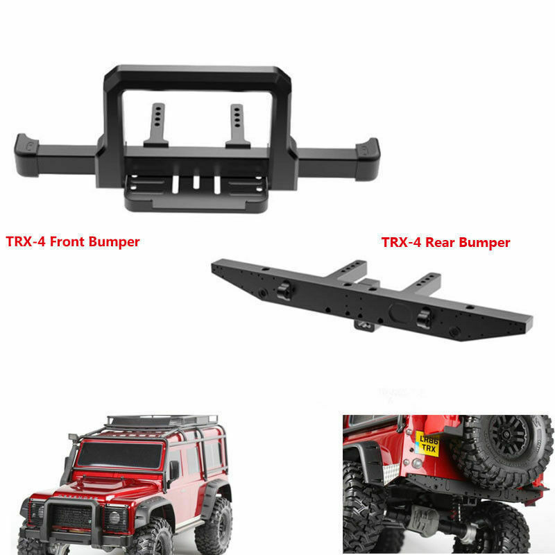 Alloy CNC Front + Rear Bumper Winch Mount For Traxxas TRX-4 T4 1 10 RC Crawler
