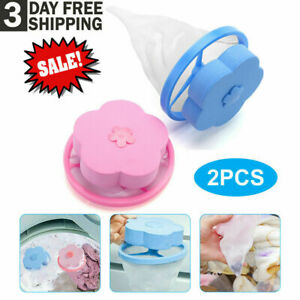 2Pcs Washing Machine Floating Remover Pet Fur Catcher Laundry Hair Lint Catcher.