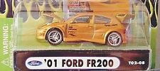 MUSCLE MACHINES iMPORT TUNER 2002 1/64 GOLD H/O '01 FORD FR200 T02-08 RARE! HTF!