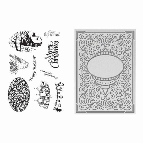 Couture Creations Sello /& Carpeta de Grabación en Relieve Colección Navidad recargado 725497