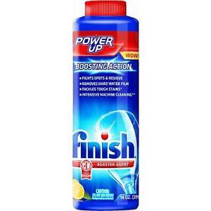 6pk Finish Power-up Booster Dishwasher Detergent Magic Hard Water Additive Glass ModèLes à La Mode