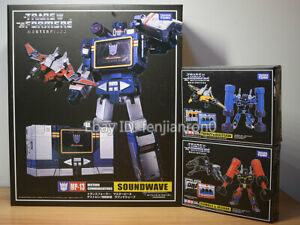 Transformers Soundwave Takara MP-13 MP15 MP16 KO With Laserbeak Action Figure 09