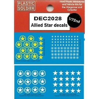 20mm Decalcomanie Allied Stelle - Plastica Soldato Azienda- Ww2- Dec2028 Prezzo Più Conveniente Dal Nostro Sito