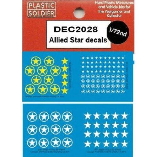 PLASTIC SOLDIER COMPANY 20MM DECALS ALLIED STARS WW2 DEC2028