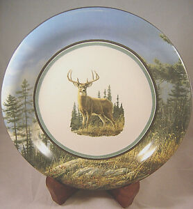 Image is loading CABELA-S-AUTUMN-WHITETAILS-DEER-Salad-Plate-Stoneware- : whitetail deer dinnerware - pezcame.com
