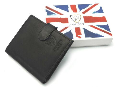 Designer J WILSON Real Genuine Mens Leather Wallet Purse Gift Box