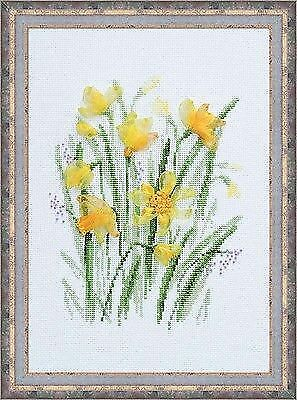 SPRING NARCISSUS Counted Cross Stitch Kit RIOLIS