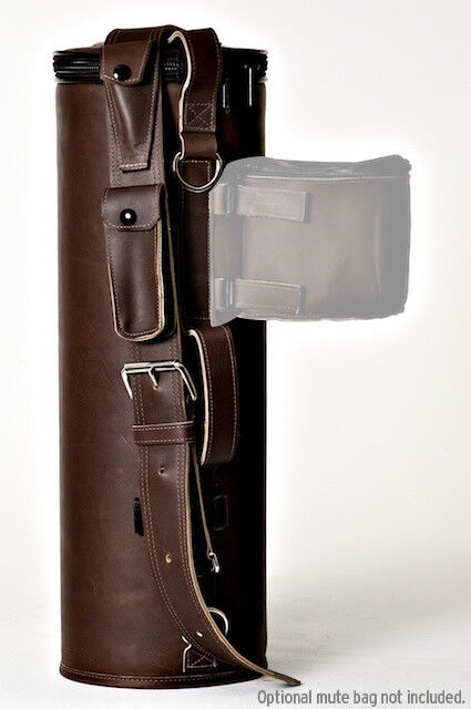 Genuine Single Outlaw Loredo (Brown Leather) Trumpet Case NEW  Ships Fast