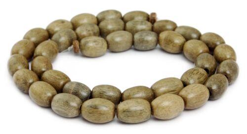 Indisches Silbergrauholz Perlen Oliven ~10-12x8 mm Holzperlen Naturperlen H.SI-8