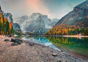 A1-Braies-Lake-Dolomites-Poster-Art-Print-60-x-90cm-180gsm-Nature-Gift-14921