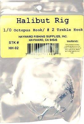 Hayward Fishing Supplies Halibut Rig Treble Hook #2 - High Quality, Fishing