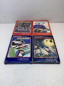 4-INTELLIVISION-GAMES-SPACE-BATTLE-LOCK-N-CHASE-SPACE-ARMADA-STAR-STRIKE