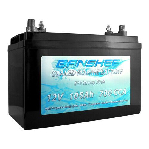 Batteries 12V 110AH Group 30 Deep Cycle AGM Marine Battery for ...