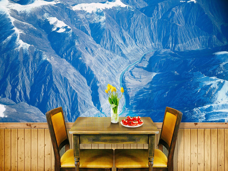 3D Canyon Schnee Berg 7 Tapete Wandgemälde Tapete Tapeten Bild Familie DE Summer