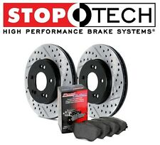 Acura ILX Honda Civic Stoptech Street Drilled Slotted Rear Brake Rotors Pads Kit
